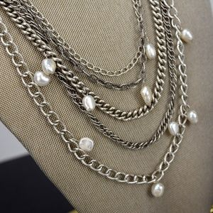 Stella & Dot Avery Multi Chain Pearl Necklace